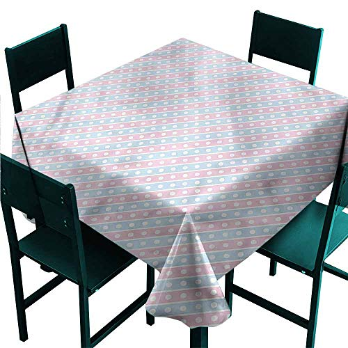 DONEECKL Easy Care Tablecloth Abstract Stripes in Pastel Tones Picnic W54 xL54