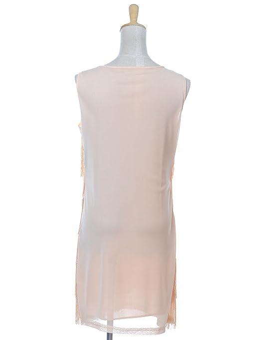 c5f9ab6fc060 Anna-Kaci Sequin Fringed Sleeveless Solid color 1920s Flapper Party Mini  Dress, Beige, Medium: Amazon.co.uk: Clothing
