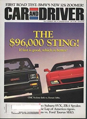 Car and Driver Magazine, September 1991 (Vol 37, No 3)