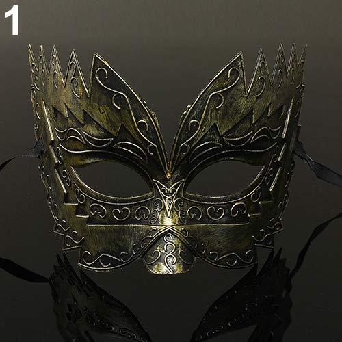 liyhh Beauty Masquerade Eye Mask Fancy Party Roman Gladiator Masked Ball Halloween Costume -