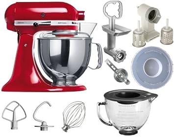Amazon.de: KitchenAid Artisan Küchenmaschine Empire Rot inkl. Top Paket