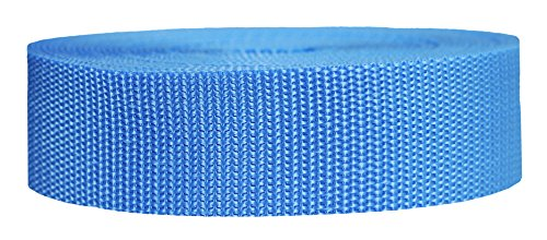 Strapworks Heavyweight Polypropylene Webbing - Heavy Duty Poly Strapping for Outdoor DIY Gear Repair, 1.5 Inch x 25 Yards, Powder Blue