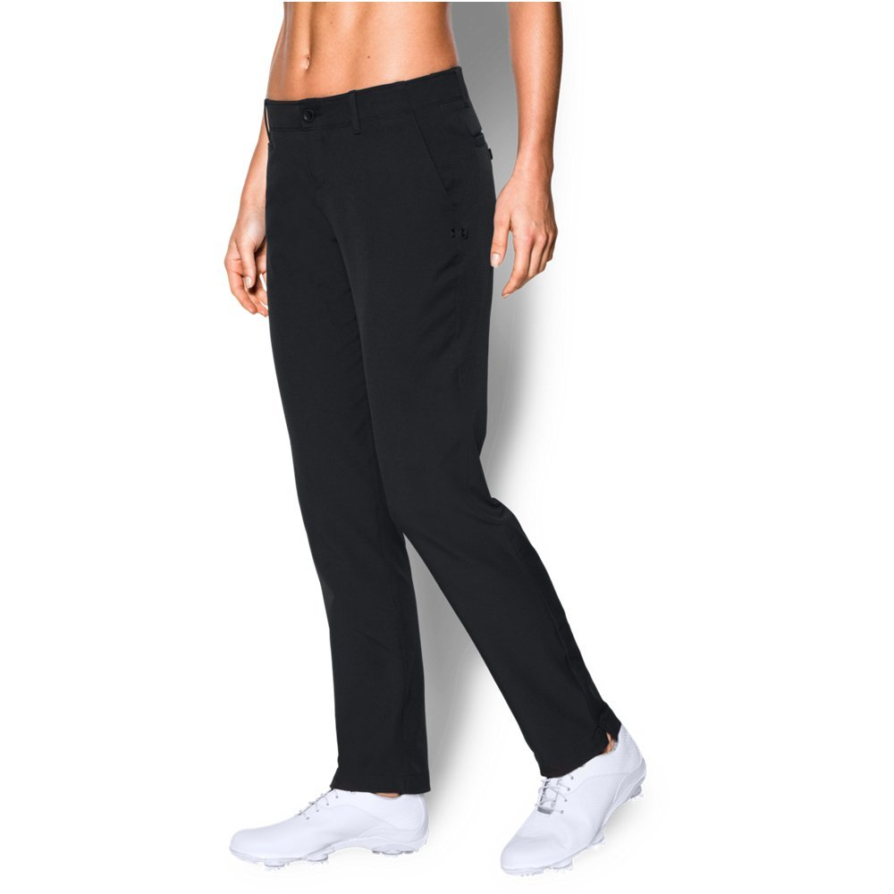 Under Armour Women's Links Pants, Black (001)/Black, 0 by Under Armour