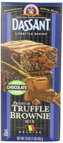 Dassant Truffle Brownie Mix, 16-Ounce Boxes (Pack of 6)