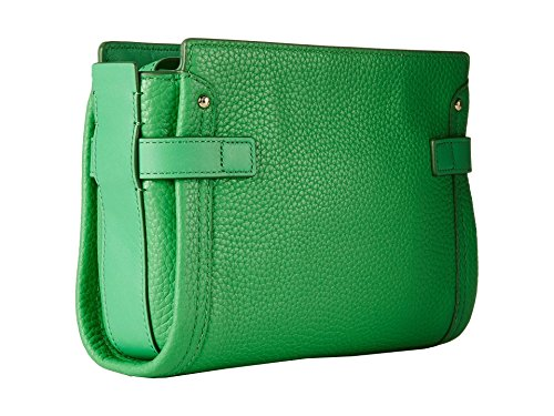 Coach Pebbled 53032 Leather Swagger Crossbody Green Wristlet ddrgxA