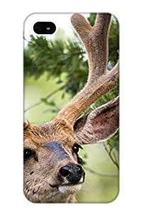 Case For Iphone 4/4s Tpu Phone Case Cover(animal Deer) For Thanksgiving Day's Gift