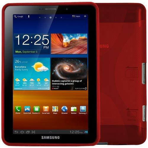 Skque Red TPU Gel Case for Samsung Galaxy Tab 7.7 P6800