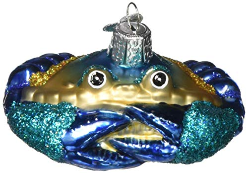 Old World Christmas Ornaments: Blue Crab Glass Blown Ornaments for Christmas Tree