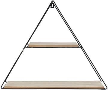 Prateleira de Metal com Tábuas de Madeira Triângulo 40cm x 50cm - 40499