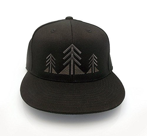 Men's Baseball Hat - Three Trees - Men's Fitted & Snapback Options Available