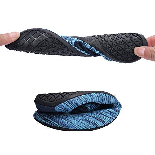 Mens Aqua Shoes Socks Blue Womens for Surf Water Sport Beach Outdoor Barerun Swim Yoga IgfwXq5n
