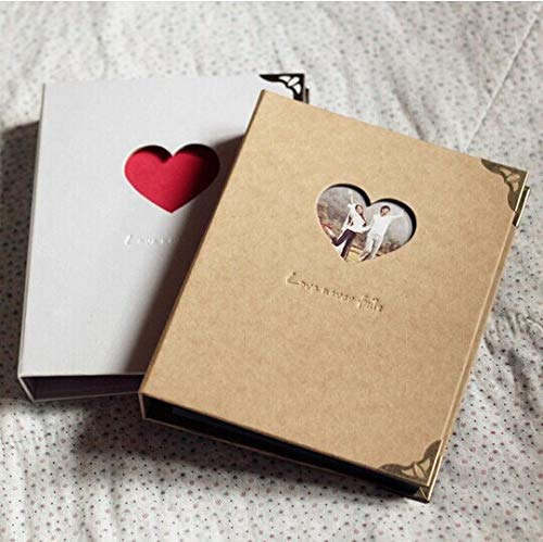 New Edify Ltd 3-Ring Binder Hardcover Scrapbook/Sketchbook Photo Album Wedding Anniversary White Cover ()