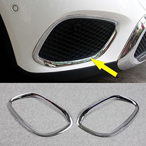 Rqing For Mercedes Benz GLC GLC300 X 205 2016 2017 2018 2019 Chrome Front Fog Light Cover Trims