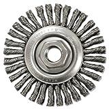 Stringer-Bead Twist-Knot Wheel, 4'' dia, 7/8'' Trim, .20 Wire, 5/8'' Arbor