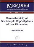 Semisolvability of Semisimple Hopf Algebras of Low Dimension, Sonia Natale, 0821839489