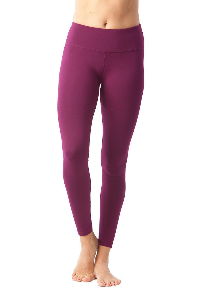 90 Degree By Reflex Women's Power Flex Yoga Pants- Magenta Haze - XL by 90 Degree By Reflex