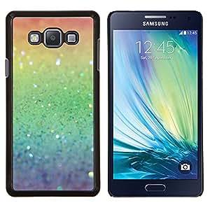 TECHCASE---Cubierta de la caja de protección para la piel dura ** Samsung Galaxy A7 ( A7000 ) ** --Rainbow ing Plata Verde