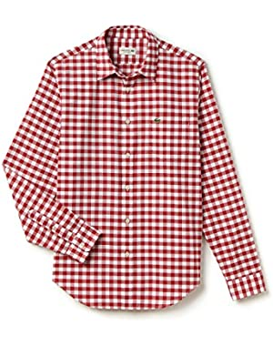 Men's Gingham Poplin Shirt ‑ Intense/white!