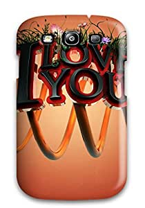 I Love You 3d Case Compatible With Galaxy S3/ Hot Protection Case