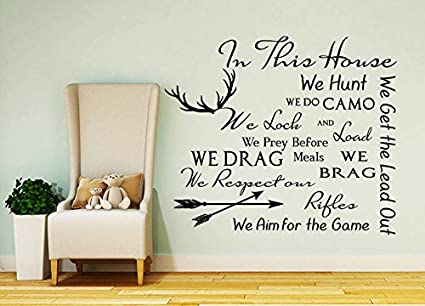 Quote Wall Decal Family Vinyl Sticker Quote In This Housesticker