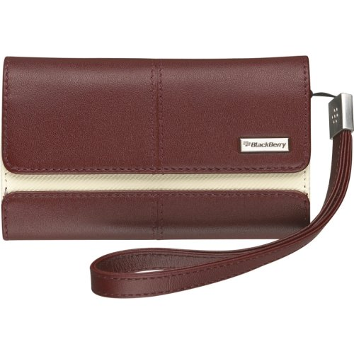 - BlackBerry 8900, 95XX, 8520 Leather Folio (Merlot)