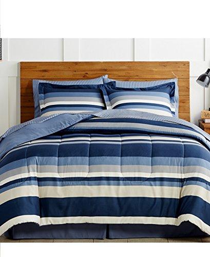Austin 8-Piece Queen Reversible Comforter Bedding Set, Blue (Comforter Fairfield Sets)