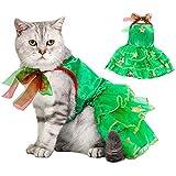Dorakitten Ropa de Navidad para Gatos, Navidad Ropa para Mascotas, Verde Disfraz para Gatos, Víspera de Todos los Santos…