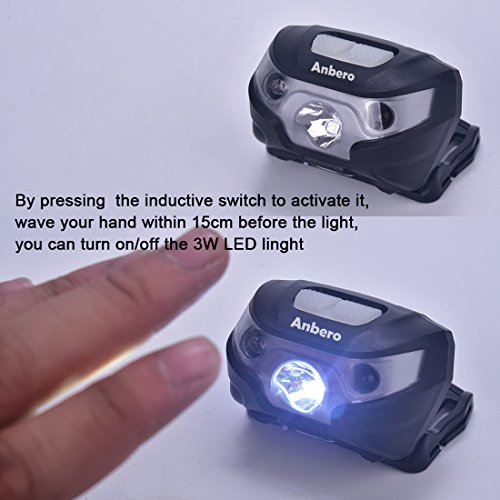 Lampe Frontale Usb Rechargeable Avec Sensor Switch Impermeable Led
