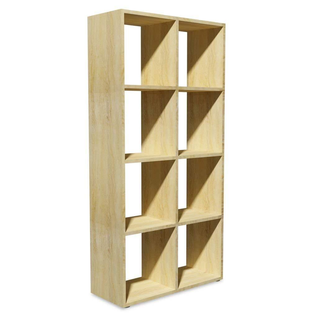 Taille : Type1 100% nouveau Bibliothèque en bois à 4 niveaux en bois pour salon Chambre à coucher 70x29x143 cm en chêne Cuisine & Maison Décoration de la maison
