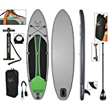 Vilano 370-VOY18 Voyager Inflatable SUP Stand Up Paddle Board, Includes Pump, Paddle, Bag & Leash