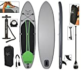 "Vilano Voyager 11' Inflatable SUP Stand Up Paddle Board Package, 6"" Thick"
