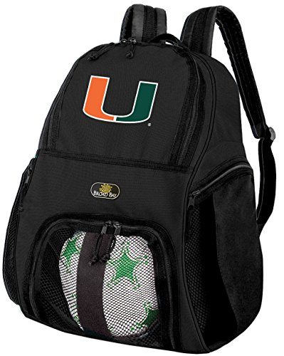 大学のマイアミMiamiサッカーバックパックまたはCanesバレーボールバッグ