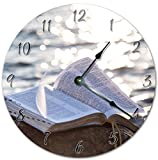 EasySells 10.5'' THE HOLY BIBLE ON THE ROCK Clock - Printed Clock - Large 10.5'' Wall Clock - Home Décor Clock