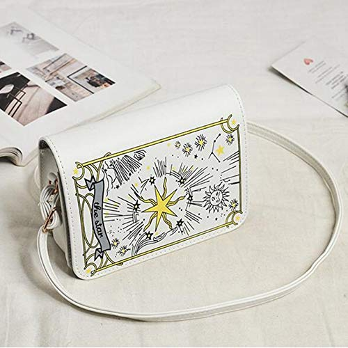 4b7645c319246 Amazon.com: DingXiong 2018 Autumn Black/White Tarot Clutch Cross Bag ...