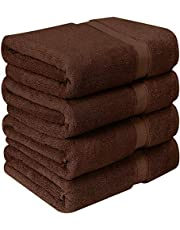 Utopia Towels - Badhanddoekenset, 4-pack - Premium 600 GSM 100% Ring Spun Cotton - Snel droog, zeer absorberend, zacht aanvoelende handdoeken, perfect voor dagelijks gebruik