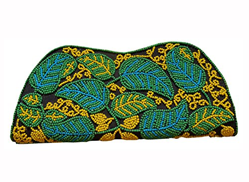 Spice Art Cotton Silk Black Beaded Embroidered Clutch for Ladies ()