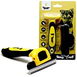 Thunderpaws Best Professional De-Shedding Tool Pet Grooming Brush, D-Shedz Breeds Dogs, Cats Short Long Hair, Small, Medium Large
