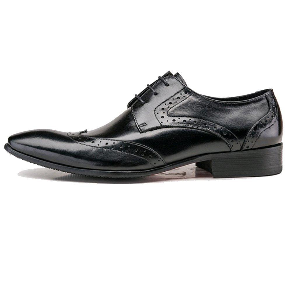 NIUMJ Scarpe da Uomo Black Traspiranti Casual da di Uomo Scarpe di Moda  Inglese Intagliate Black 4372a13 d3a7b013d59