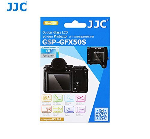 JJC GSP-GFX50S Ultra-Thin 9H Tempered Glass Clear LCD Screen Protector for FUJIFILM GFX 50S