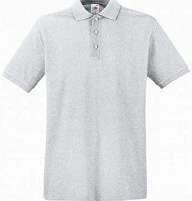 Fruit of The Loom - Polo de Manga Corta para Hombre (algodón) Gris ...
