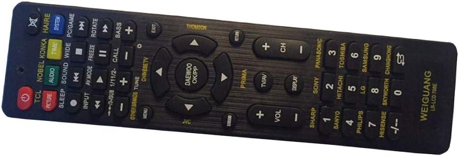 Hemobllo Control Remoto Universal de TV LCD de reemplazo para Sony Samsung Philips sin batería (Negro): Amazon.es: Hogar