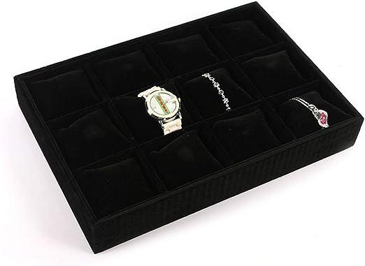 Caja de almacenamiento de joyería Bandejas de exhibición de joyas ...