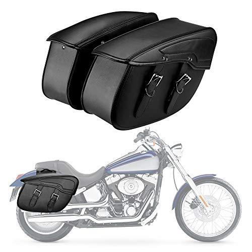 Motorcycle Saddlebag Side Luggage Bags for Softail Sportster Road King Honda Yamaha Kawasaki (Style 1) ()