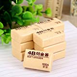 Wholesale 4B 100A Pencil Drawing Writing Eraser Stationery Student Office Supply