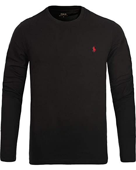 92542b69 New Mens Ralph Lauren Crew Neck Long Sleeve Polo Sleepwear Nightwear Top  Custom Fit T Shirt Size SML XL XXL (XXL, Black)