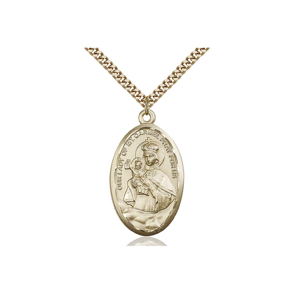 DiamondJewelryNY 14kt Gold Filled O//L of Mount Carmel Pendant