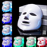 White 7 Colors Light LED Facial Mask Therapy Acne Aging Less Wrinkles AU SELLER