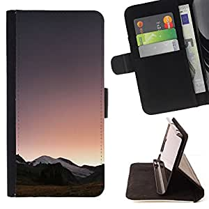 For LG OPTIMUS L90 Landscape Horizon Mountains View Sunrise Style PU Leather Case Wallet Flip Stand Flap Closure Cover