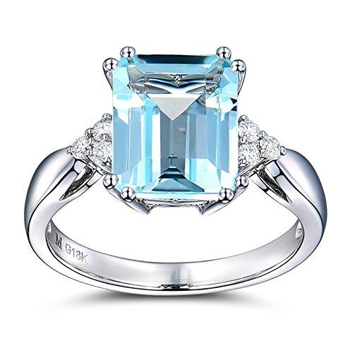 Yosemite Engagement Wedding Jewelry Luxury Square Artificial Topaz Women...