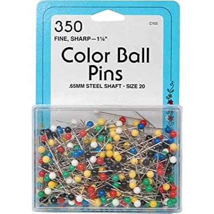 Dritz Color Ball Pins Size 20 - 350 per Package C105